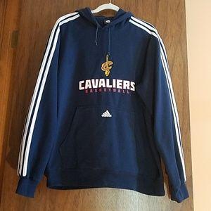 Size XL.  Adidas CAVALIERS Basketball Hoodie